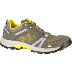 NH500 Men's Fresh nature hiking shoes, grey/yellow