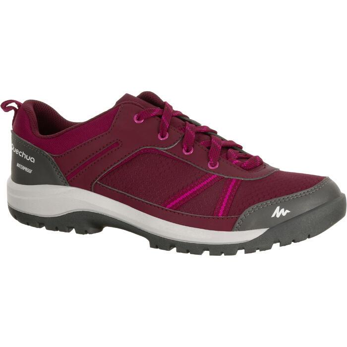 Chaussure de randonnée nature NH300 imperméable noire femme - 1125580