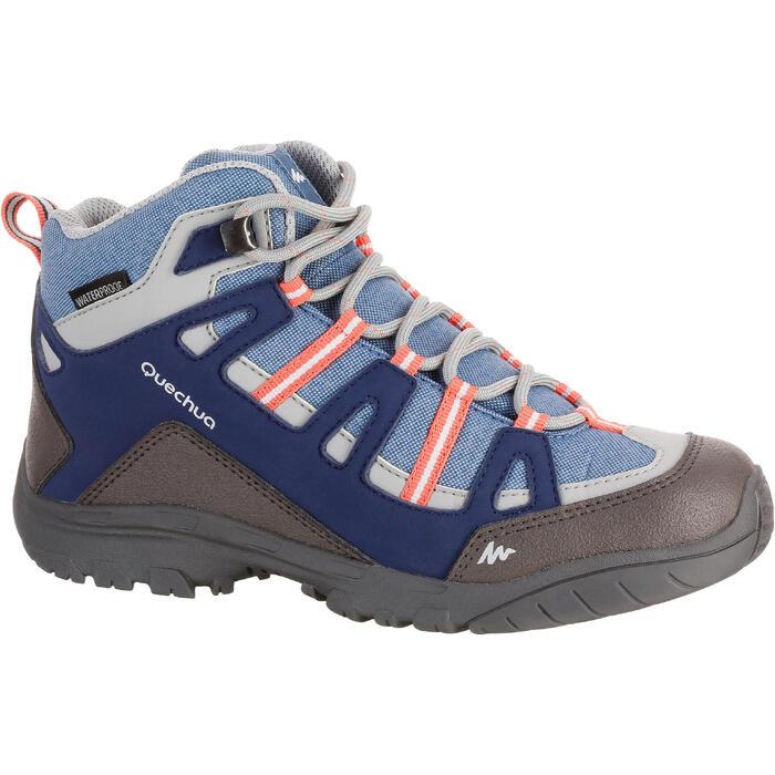 Chaussures de randonnée enfant NH500 Mid imperméables JR corail - 1125612