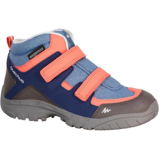Waterdichte wandelschoenen Arpenaz 100 mid voor kinderen, met veters - 1125615