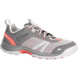 Arpenaz 500 女款休閒健行鞋 - 灰色/粉紅色