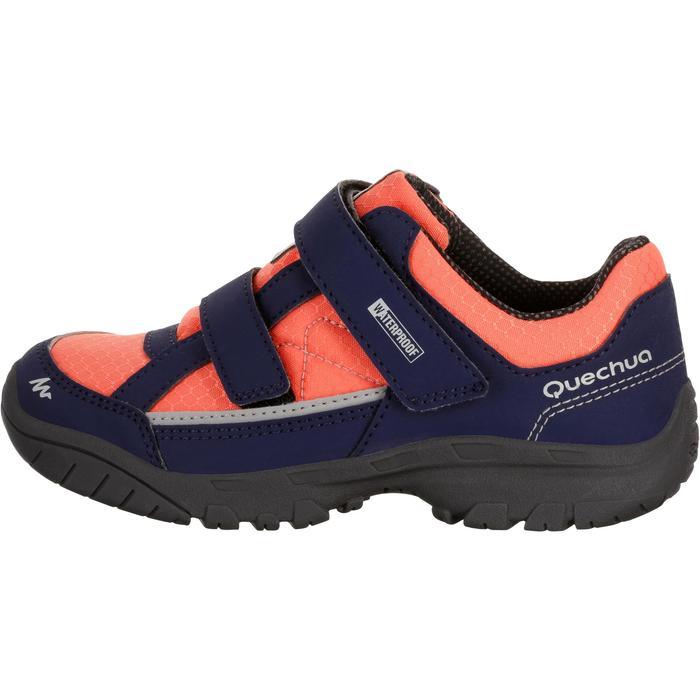 Chaussures de randonnée enfant NH100 imperméables Bleu Corail - 1125632