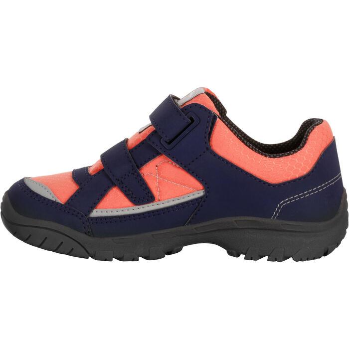 Chaussures de randonnée enfant NH100 imperméables Bleu Corail - 1125634