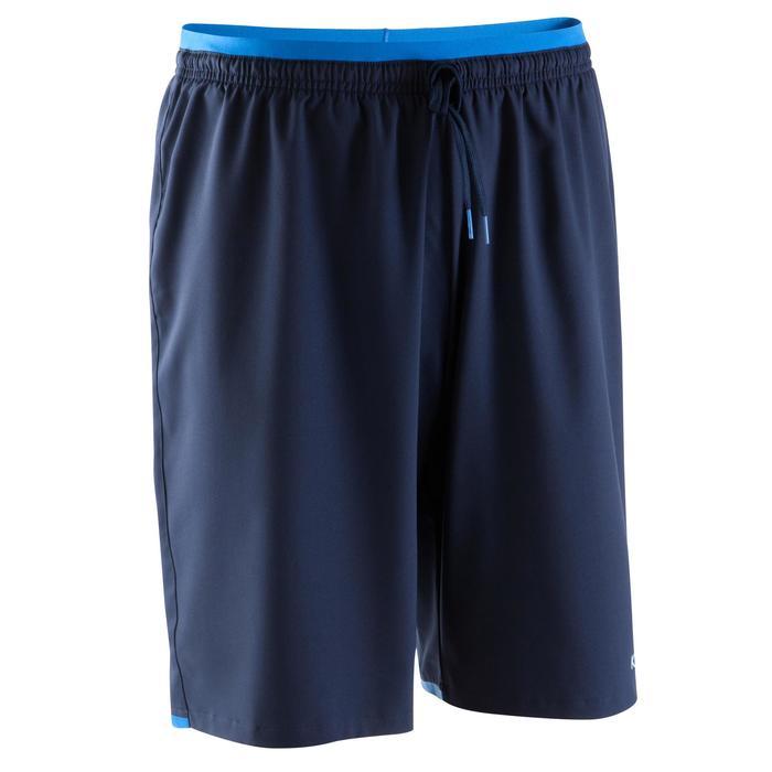 Pantalón corto de fútbol para adulto F500 azul oscuro