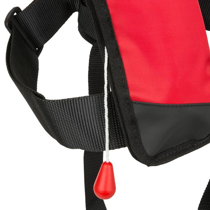 Rettungsweste aufblasbar + Gurtsystem Segeln Pilot 100 Kinder rot/schwarz