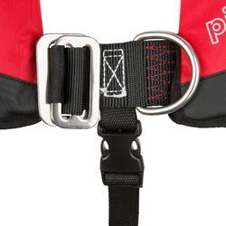 Automatisch reddingsvest + harnas voor kinderen Pilot 100 rood/zwart