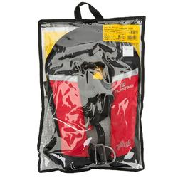 Chaleco salvavidas autoinflable + arnés niño Pilot 100 rojo/negro