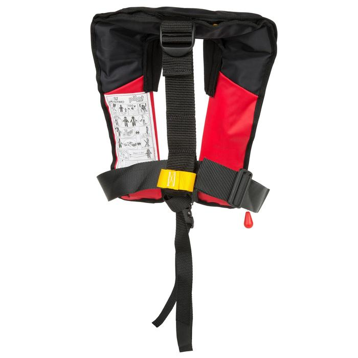 Rettungsweste aufblasbar + Gurtsystem Segeln Pilot 100 rot/schwarz