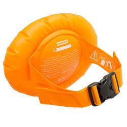 兒童充氣游泳腰帶橘色