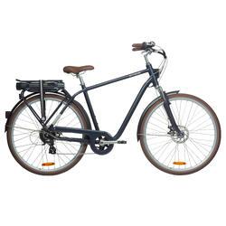 Elektrische fiets / E-bike heren Elops 900 E stadsfiets marineblauw