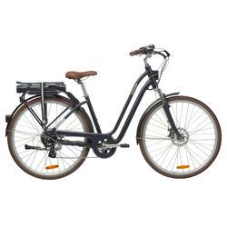 Elektrische fiets / E-bike Elops 900 laag frame stadsfiets blauw