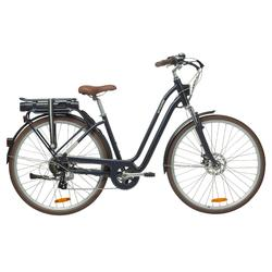 "E-Bike City Bike 28"" Elops 900 LF tiefer Einstieg blau"