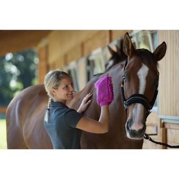 Licol + longe équitation poney et cheval STRASS noir - 1126004