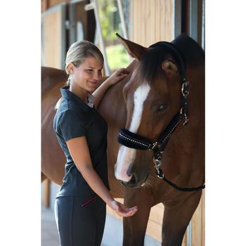 Pack licol + longe équitation cheval et poney STRASS noir