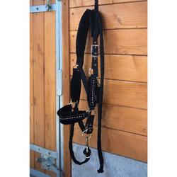 Halfterset mit Führstrick Strass für Pony und Pferd schwarz