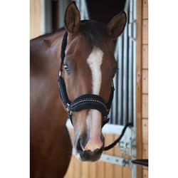 Set halster + halstertouw Strass paard en pony zwart
