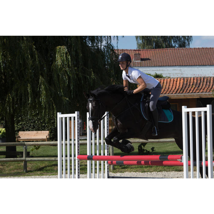 Paardrijbroek dames ruitersport BR500 met inzetstukken - 1126056