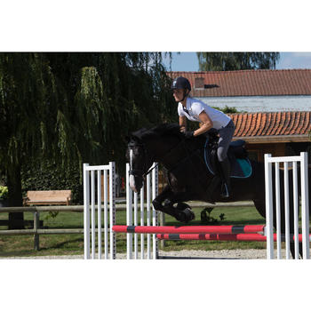 Pantalon équitation femme BR500 basanes marine - 1126056