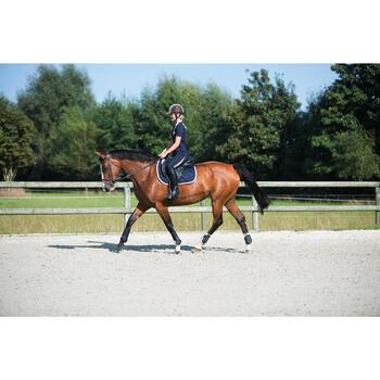 """Selle polyvalente en cuir à arçon réglable équitation cheval PADDOCK 17""""5 - 1126058"""