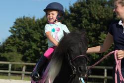 Polo met korte mouwen voor ponyrijden watergroen - 1126065