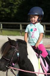 Polo met korte mouwen voor ponyrijden watergroen - 1126067