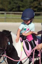 Polo met korte mouwen voor ponyrijden watergroen - 1126069