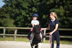Polo met korte mouwen voor ponyrijden watergroen - 1126071