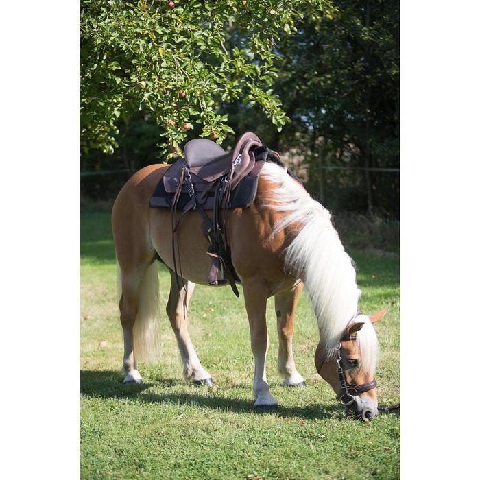 Bridon licol + rênes équitation randonnée ESCAPE marron - taille cheval - 1126072