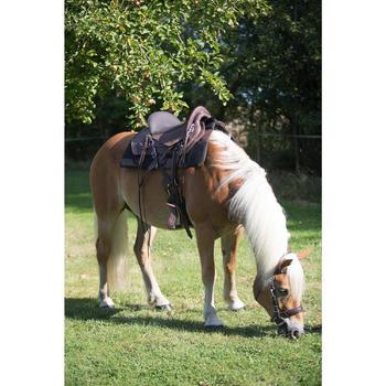 Selle équitation randonnée cheval ESCAPE marron - 1126072