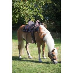 Tapis de selle équitation randonnée cheval ESCAPE noir