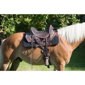 Selle équitation randonnée cheval ESCAPE marron - 1126073
