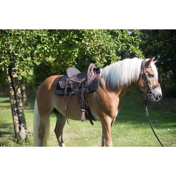Bridon licol + rênes équitation randonnée ESCAPE marron - taille cheval - 1126074