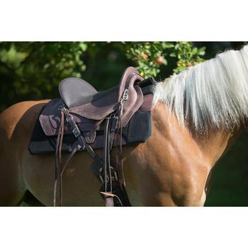 Selle équitation randonnée cheval ESCAPE marron - 1126076