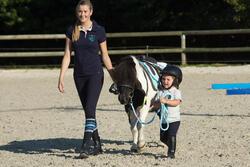 Polo met korte mouwen voor ponyrijden watergroen - 1126311