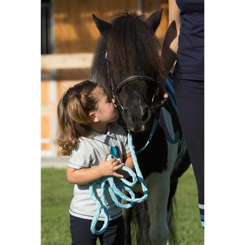 Polo manches courtes équitation baby PL100 rose