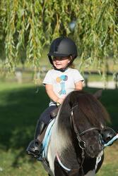 Polo met korte mouwen voor ponyrijden watergroen - 1126319