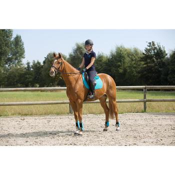 Pantalon équitation femme BR500 basanes marine - 1126328
