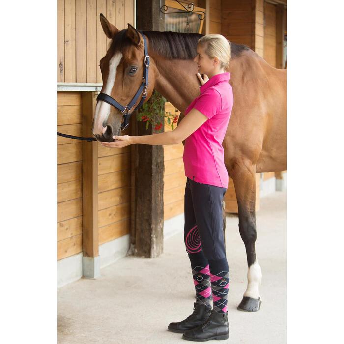 Cabestro + ronzal equitación poni y caballo CLASSIC azul marino