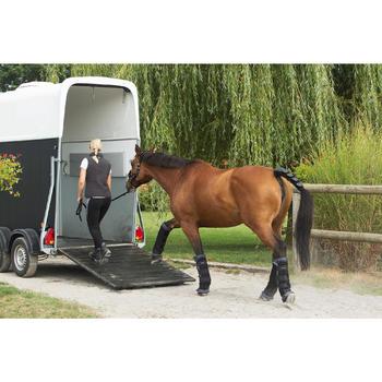 2 stalbandages met geïntegreerde wattering ruitersport paard zwart