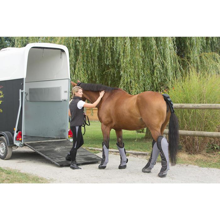 4 guêtres de transport équitation cheval TRAVELLER 500 noir et gris - 1126335