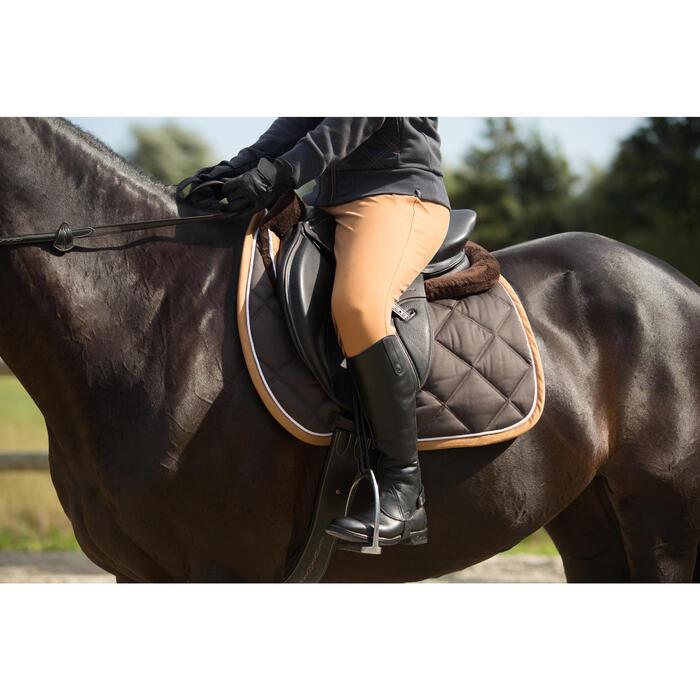 Salvacruz de espuma equitación - caballo y poni LENA POLAR marrón
