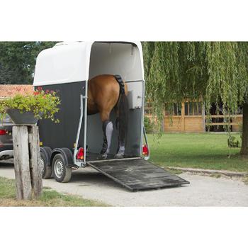 4 guêtres de transport équitation cheval TRAVELLER 500 noir et gris - 1126339