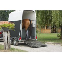 4 guêtres de transport équitation cheval TRAVELLER 500 noir et gris