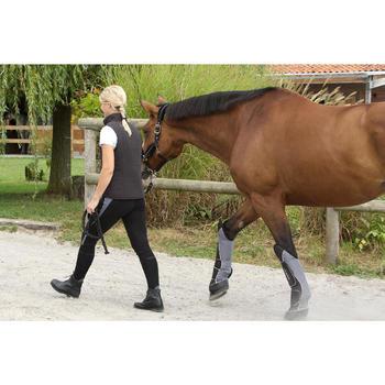 4 guêtres de transport équitation cheval TRAVELLER 500 noir et gris - 1126341
