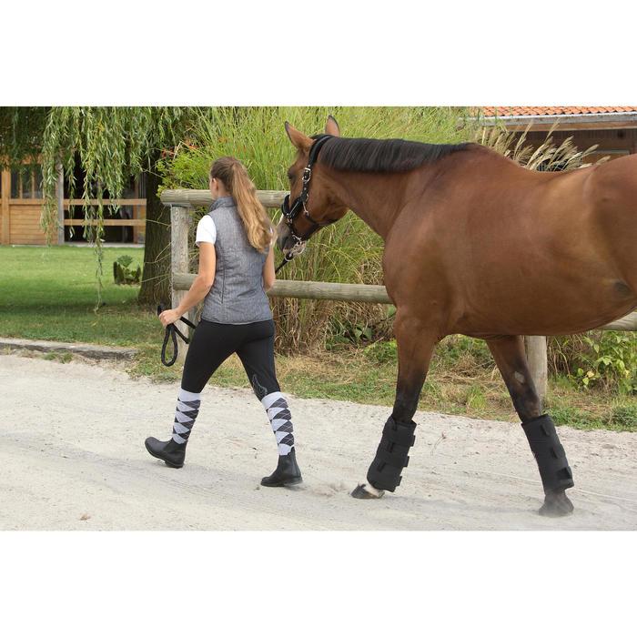 Gilet sans manche équitation femme ACCESSY bleu jeans - 1126342