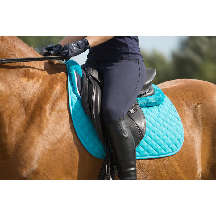 Pantalon équitation femme BR500 basanes marine - 1126343