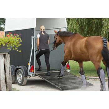 4 guêtres de transport équitation cheval TRAVELLER 500 noir et gris - 1126361
