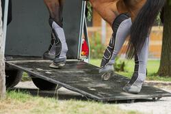 Transportbeschermers Traveller 500 ruitersport zwart en grijs x4 - maat paard - 1126383