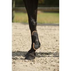 2 Protect. abiertos+2 protectores menudillo equitación caballo RIDING ngr/marrón