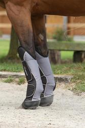 Transportbeschermers Traveller 500 ruitersport zwart en grijs x4 - maat paard - 1126385